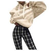 Sweatshirt 2019 Vrouwen Fleece Hoooded Winter Sweatshirts Losse Trui Casual Lady Oversize Truien Warm Pocket Hoodies z0829