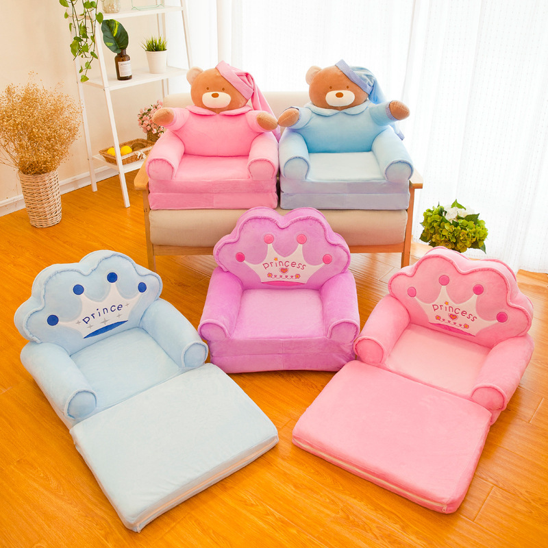 Children's Small Sofa Cartoon Seat Girl Boy Princess Baby Sofa Chair Stool Lazy Tatami Single Cushion Child Gift