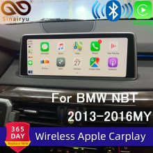 Sinairyu Wifi Nirkabel Apple Carplay untuk BMW NBT X5 X6 F15 F16 F25 F26 2013-2016 Mendukung IOS/ android Auto Cermin Spotify Waze(China)
