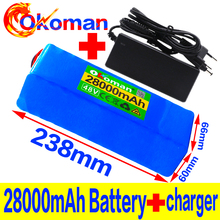 цена на 48v lithium ion battery 48v 28Ah 1000w 13S3P Lithium ion Battery Pack For 54.6v E-bike Electric bicycle Scooter with BMS+charger