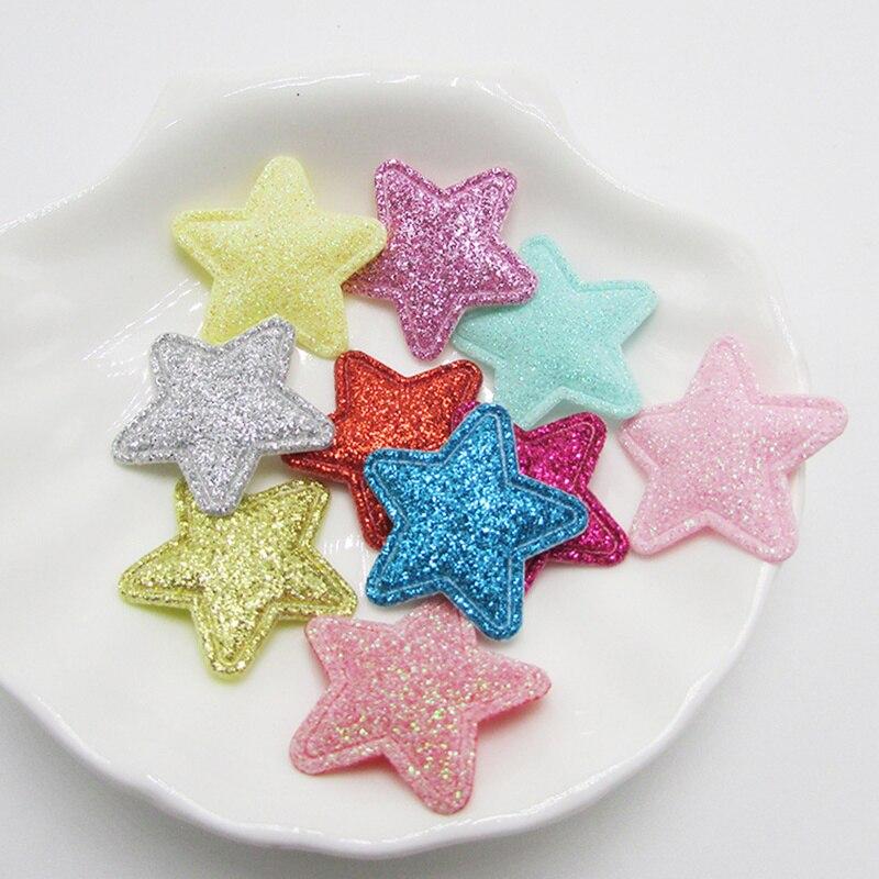 50 pièces/sac paillettes patchs étoile à cinq branches jouets pour filles vêtements couture matériel patchs pour vêtements vêtement perles décoratives
