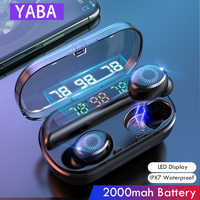 YABA V10 8D Wireless Earphone Bluetooth headphones Sports Earbuds LED Display Touch Control HIFI Stereo Headset with Mic