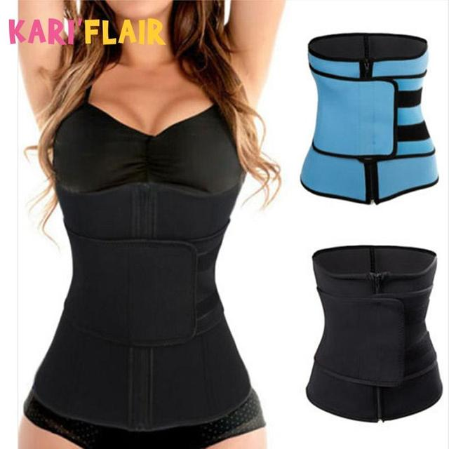 Fitness Hot Women Waist Trainer Sweat Belt Waist Trimmer Slimming Tummy Control Girdle Weight loss Support Belt For Men Women