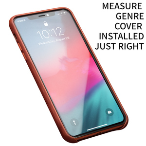 Image 2 - QIALINO Genuine Leather Slim Phone Case for iPhone 11/12 Mini Fashion Handmade Anti knock Back Cover for iPhone 11/12 Pro Max