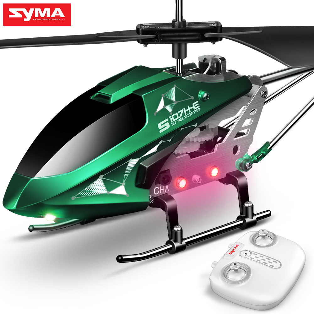 New Arrival SYMA RC Helicopter S107H-E With Hover Function 3.5CH RC Helicopters Present Flying Toys For Boys Children