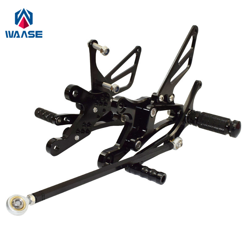 Waase For Yamaha YZF R1 1998 1999 2000 2001 CNC Adjustable Rider Rear Sets Rearset Footrest Foot Rest Pegs
