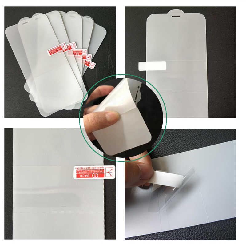 9D Gel de agua Pantalla Completa película suave Protector de pantalla de teléfono para iPhone7 8 Plus X XS XR XS Max TPU cubierta completa de película frontal protectora