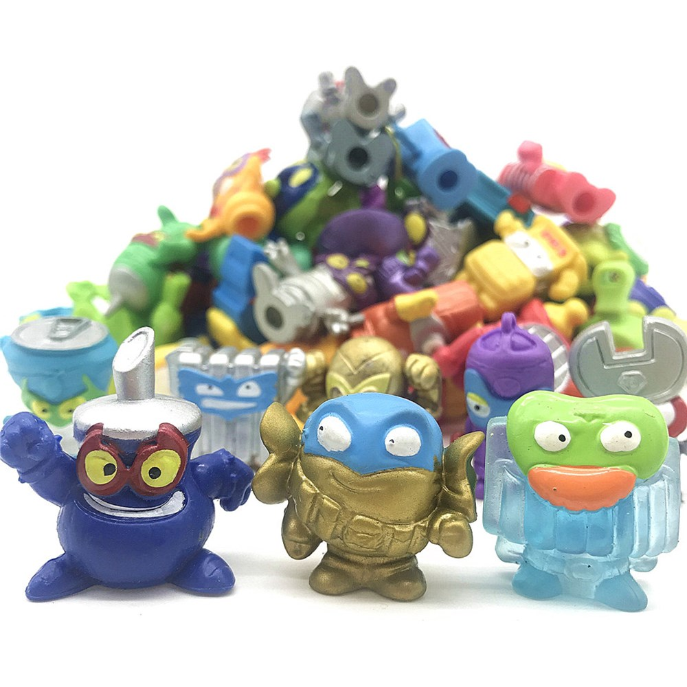 Superzings Series 1 2 3 Garbage Rubber Cartoon Anime Action Figures Toy Collection Model Rubber Toy For Kids Gift