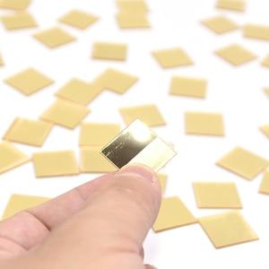 Image 4 - 100pcs/lot 2cm Mini 3D Acrylic Mirror Wall Stickers Heart/Round Shape Stickers Decal Mosaic Mirror Effect Livingroom Home Decor
