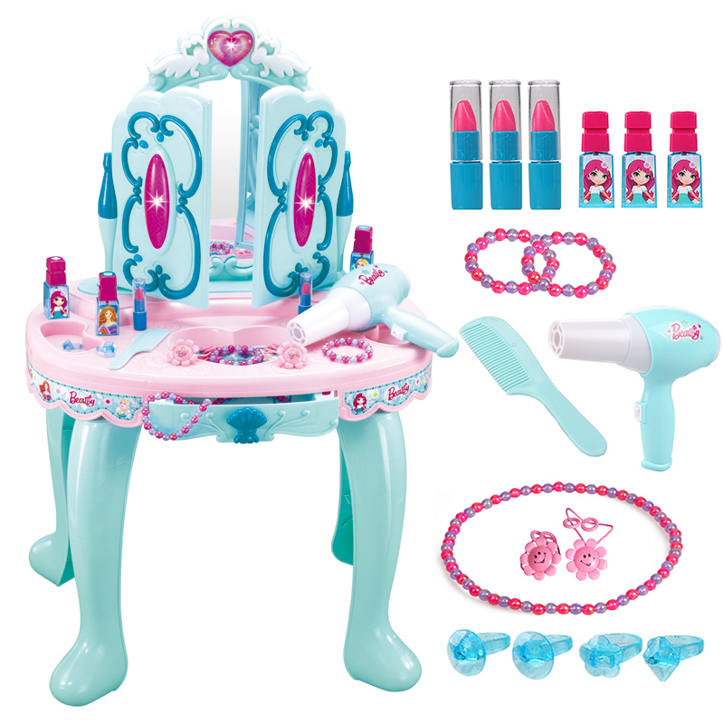 Girls, Babies, Children's Dressing Table, Toys, Girls, Princesses, Cosmetics, Girls'Toys And Magic Wands