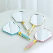 Vintage Handheld Make-Up Spiegel Hand Spiegel Spiegel Spa Salon Make Vanity Met Handvat Cosmetische Compacte Spiegel Voor Vrouwen