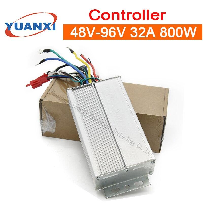 Electric Battery Car Controller 48V/60V/72V/84V/96V 32A 800W Intelligent Brushless Three - Mode Universal