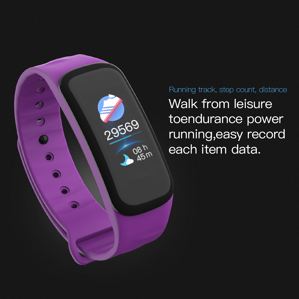 C1plus Smart Bracelet Watch Heart Rate Fitness Track Watch Colorful Screen WristWatch Bluetooth Smart Watch Sport