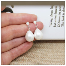 925 sterling silver stud earrings for women High quality shell pearl Designer