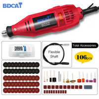 BDCAT Power Tools Engraving Pen Mini Drill Rotary Tool Variable Speed Polishing Machine with 106Pcs Dremel Tool Accessories
