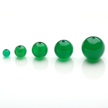 Grade 3A Chalcedony Stone Beads Natural Pure Green DlY Bracelet Necklace Accessories 4,6,8,10,12mmW Each image