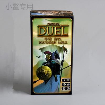 Настольная игра «партенон», 7 чудес, дуэль, 2 игрока, настольная игра, китайская версия, двойной дуэт против семьи