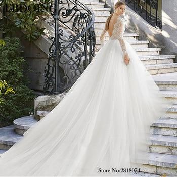 Amazing Ball Gown Wedding Dress Lace Boat Neck Neckline Vestidos De Novia Chapel Train Plus Size Wedding Gown Bride Dress