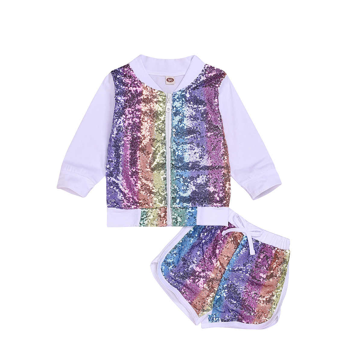 chifuna New Fashion Rainbow Letter Sport Sets T-shirt+shorts Baby Boutique Toddler Summer Outfit Little Girls Clothes For Boy