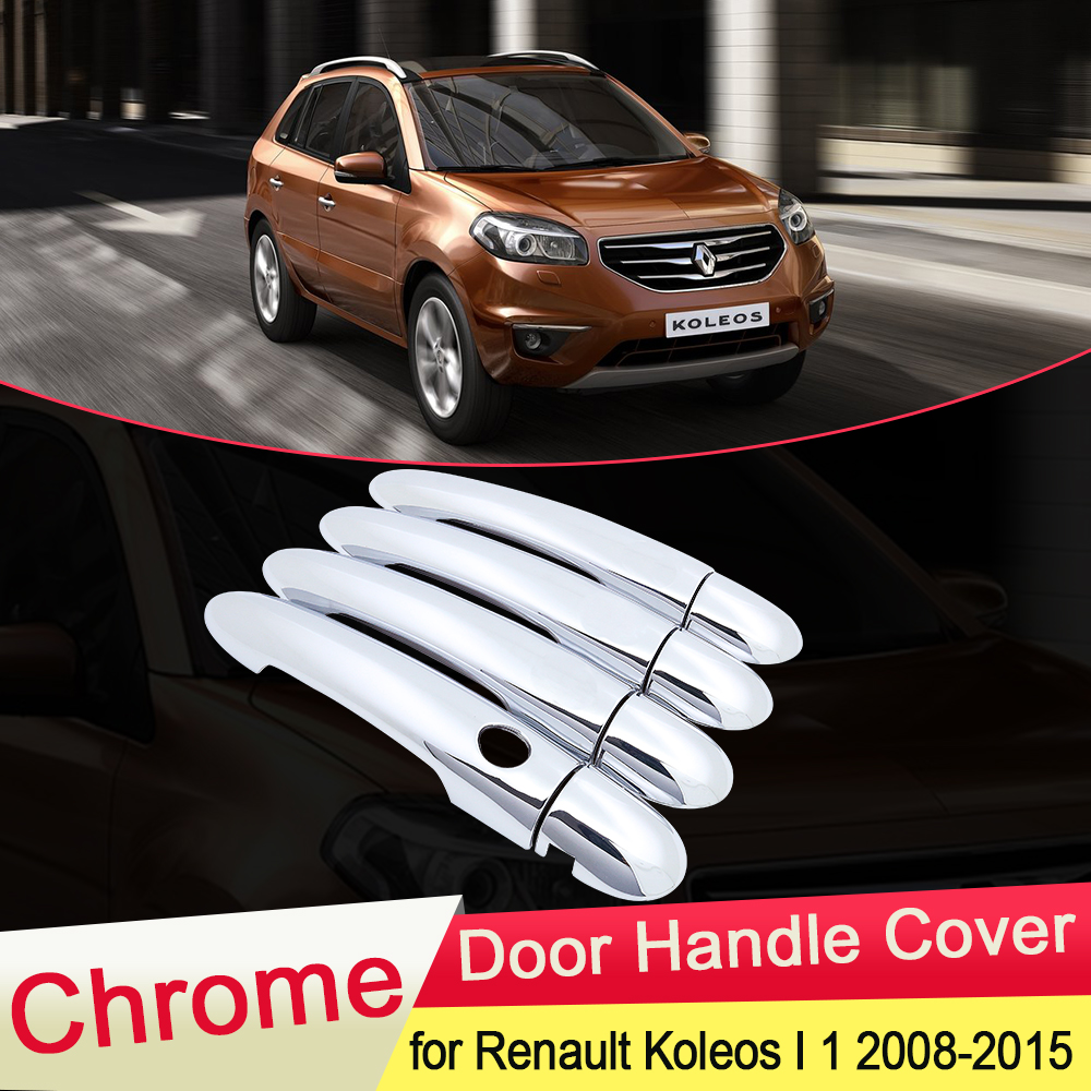 for <font><b>Renault</b></font> <font><b>Koleos</b></font> Samsung QM5 I MK1 <font><b>2008</b></font> 2009 2010 2011 2012 <font><b>2013</b></font> 2014 2015 Chrome Door Handle Cover Trim Styling Accessories image