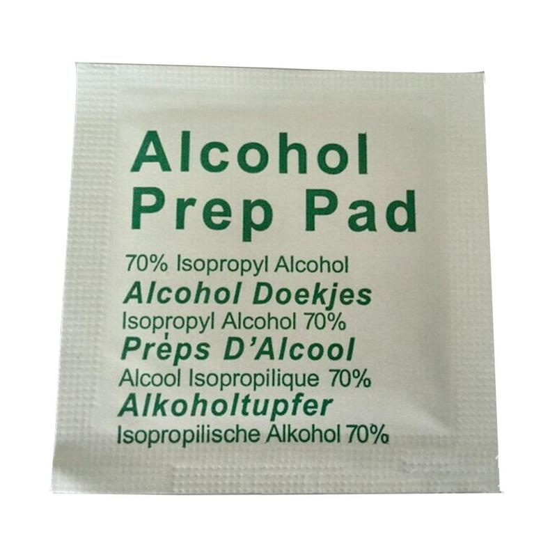 Portable Alcohol Prep Pad Swabs Pads Wet Wipes Cleanser Cleaning Sterilization First Aid Makeup Wipes Effective Disinfection