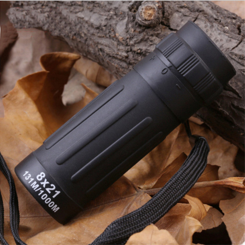 8X Monocular Telescope 8x21 Camping Hunting Sports Telescope Handy Scope Compact Monocular Binoculars Portable Black Wholesale