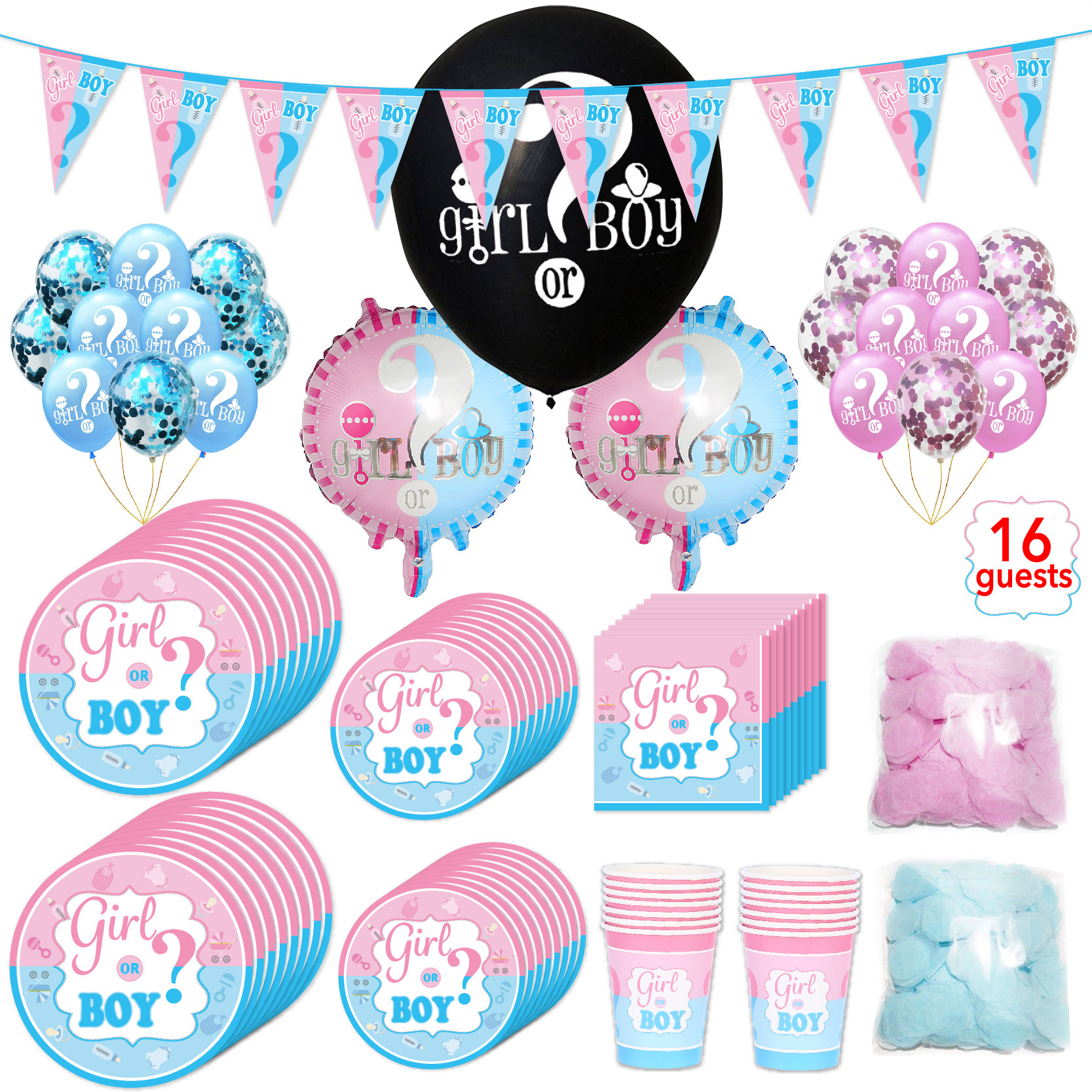 1 Set Baby Shower Boy Girl Decorations Set Baby Balloons Gender Reveal Kids Birthday Party Gender Reveal Party Supplies
