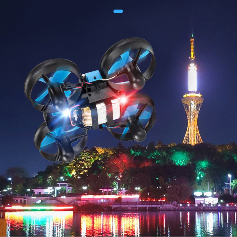 Image 2 - H36F TERZETTO 3 in 1 Drone Boat Car Water Ground Air Mode 3 mode Altitude Hold Headless Mode RC Quadcopter Helicopters Toys-in RC Helicopters from Toys & Hobbies