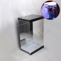 1/6 45cm Action Figure Display Case Dustproof Acrylic Carving Showcase Box With Lights