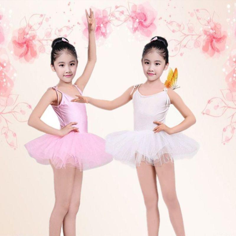 Kids Girls Toddler Ballet Suit Dance Dress Gymnastics Skating Leotards Costumes 4 Color Dance Girl  Clothes