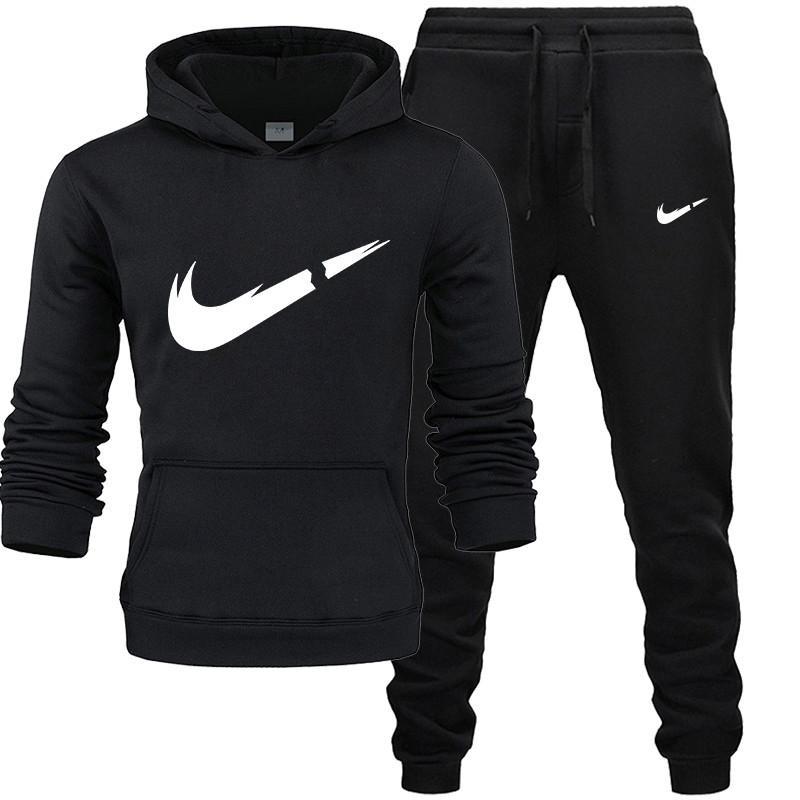 2019  Autumn And Winternew Men'sHoodieCasual Suits Gym Men's Clothing Sets Tops + Pants Man Sweatshirt Men BrandHoodie Set