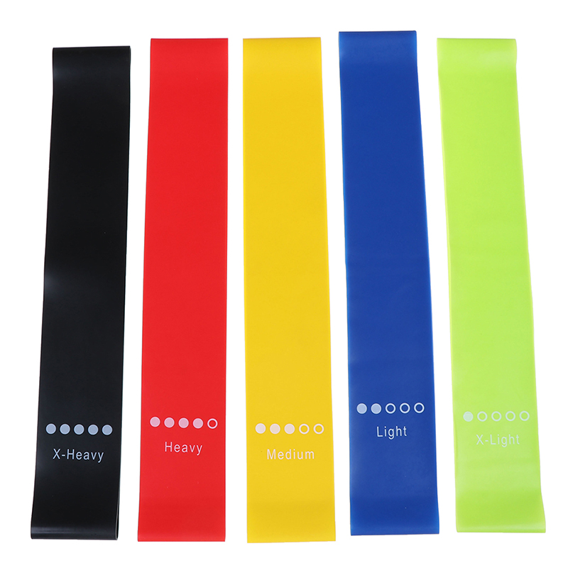 Rubber Yoga Resistance Bands Bands Indoor Outdoor Fitness Equipment 0.35mm-1.1mm Pilates Sport Training Workout Elastic Bands