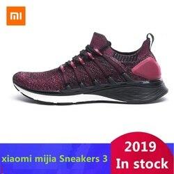 Original Xiaomi Mijia Sneakers 3 Men's Outdoor Sports  Uni-moulding 3D Fishbone Lock System Knitting Upper Men Running Shoes