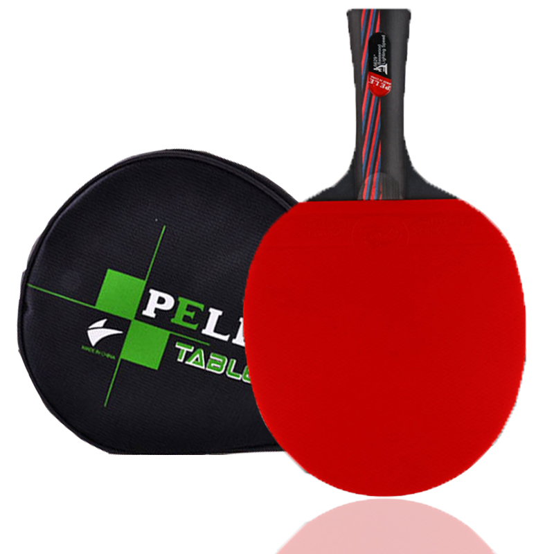 PRO Table Tennis Racket Ping Pong Racket Carbon Fiber Blade Bat Kalemlik Sticky Attack Pimples-In Rubber With Pingpong Bag