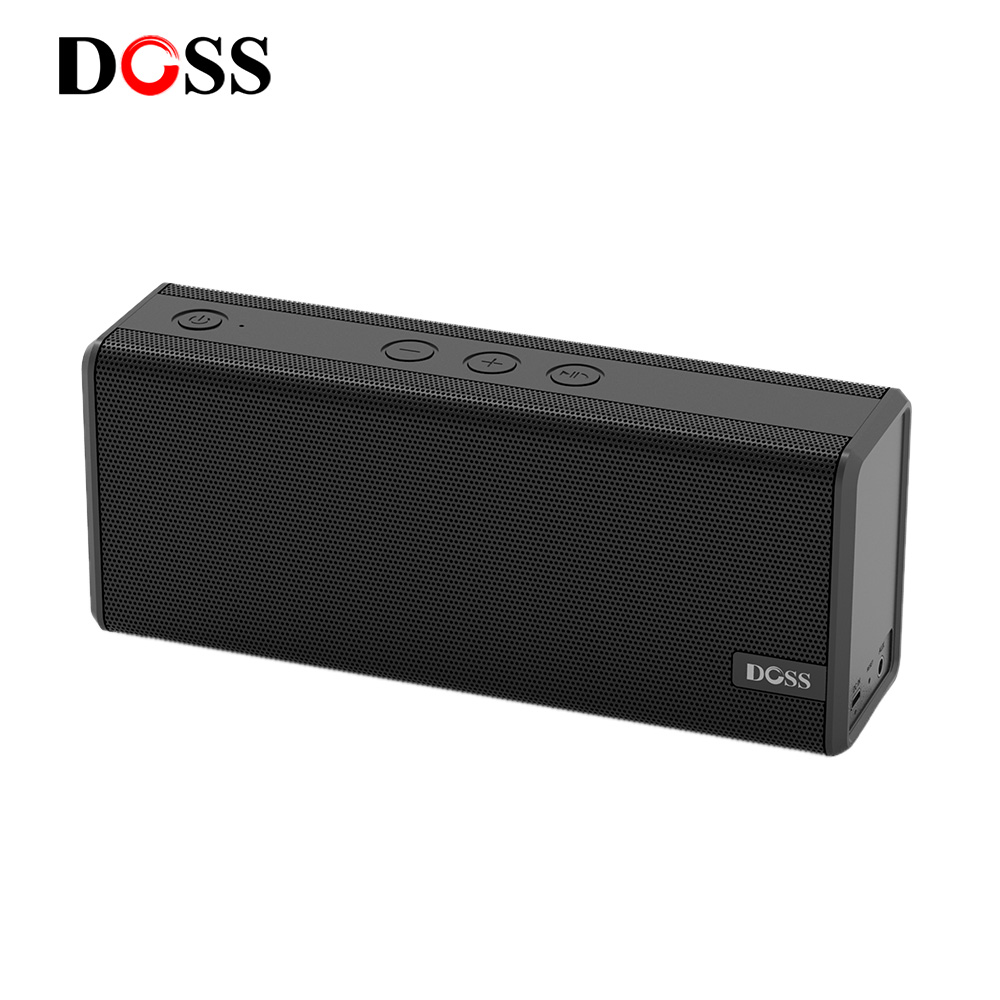 CLEARANCE SALE DOSS Portable Wireless Bluetooth Speaker 2*6W Drivers 1 Passive Radiator Speakers with Stereo Sound Enhanced Bass