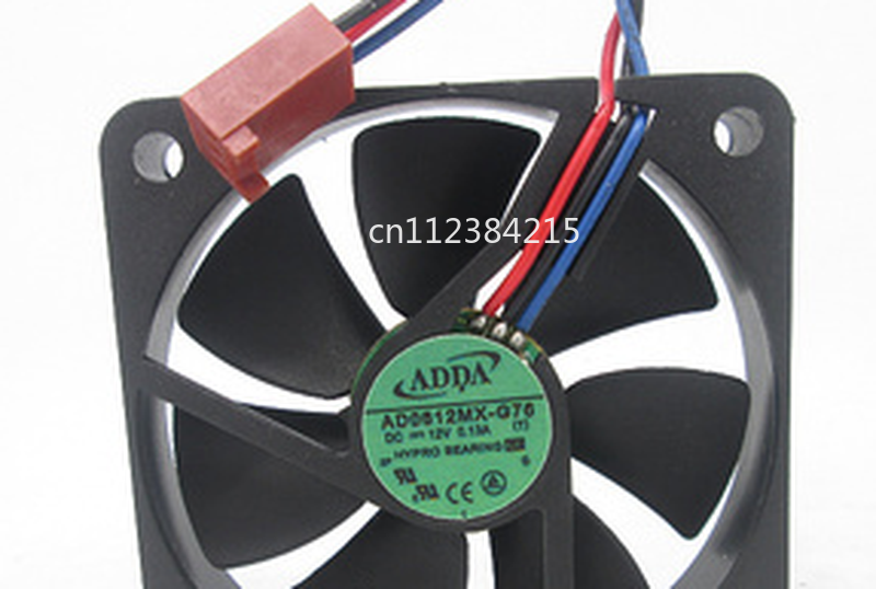 Free Shipping AD0612MX-G76 Server Cooler Fan DC 12V 0.13A 60x60x10mm 3-wire
