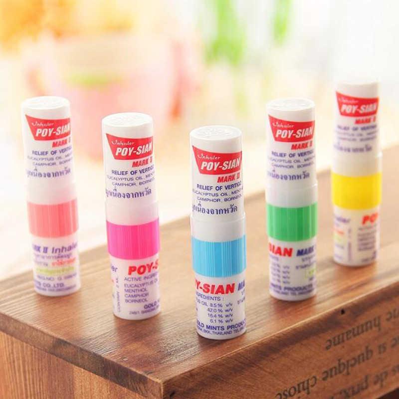 Inhalateur de nez thaïlandais huile de menthe poivrée huile d'asthme fraîche Drainage Nasal étudiants rafraîchissants Anti-ronflement huile fraîche Tube de huit Cents