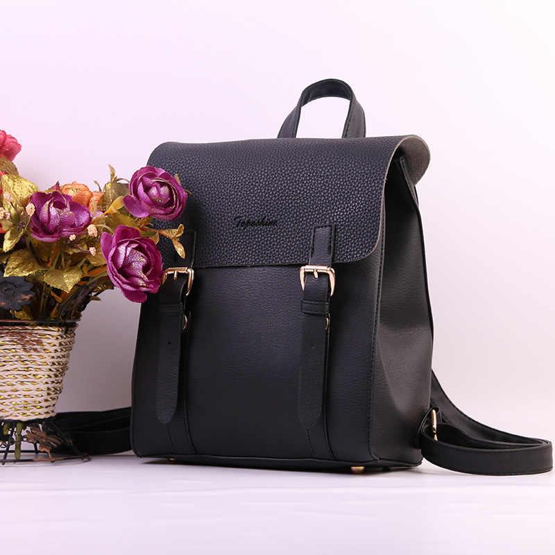 Toposhine Desain Baru Wanita Ransel Fashion Square Girls Ransel Kulit PU Wanita Tas Grosir Tas Ransel Wanita Sekolah Mode Bags1704