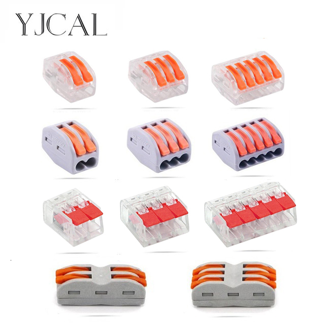 YJCAL Electrical Wire Connector Terminals Cage Spring Universal Fast Terminal Household For Connection Of Wires Lamp