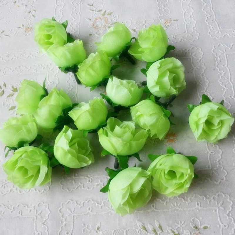 1 pcs Silk Rose ดอกไม้ประดิษฐ์งานแต่งงานตกแต่ง DIY พวงหรีดแผ่นหัตถกรรมจำลองราคาถูกดอกไม้ปลอม