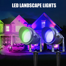 Outdoor Landscape LED Light 5W Waterproof Garden Lights COB Spotlights with Stand for Lawn Decorative Lamp Warm/Cold White RGB