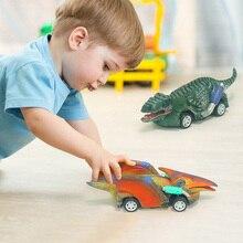 Игрушечный автомобиль-динозавр, 6 видов, милые модели животных, игрушечные автомобили, коллекционный подарок на день рождения, детская игру...