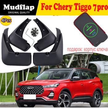 Błotniki dla Chery Tiggo 7 Pro 2021 2020 4 sztuk przedni tylny błotnik błotniki wysokiej jakości straż Splash akcesoria samochodowe tanie i dobre opinie CN (pochodzenie) 30cm 10cm 25cm 0 5kg Protect cars from mud and sand Mudguards 2020202021