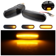 2pcs LED Dynamic Side Marker Turn Signal Light for Fiat Panda Peugeot Bipper's Water Fender Sequential Side Marker Lights Blinke