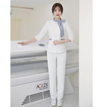 Beauty salon uniform 2020 new SPA spring and summer beautician costume female medical nurse outfit