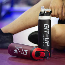 750ml/1000ml di Alta qualità Bottiglia di Acqua di Sport Con Paglia a prova di Perdite Corsa E Jogging Ciclismo Palestra Fitness