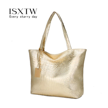 ISXTW 2019 New Crocodile Pattern Tote bags bag in womens shoulder Fashion Large Capacity Mobile Shopping Bag Woman Bag/B10
