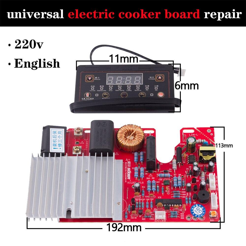 Evrensel indüksiyon ocak modifiye kurulu onarım elektrik sobası yedek parça  devre şeması mikro bilgisayar denetleyicisi Induction Cooker Parts