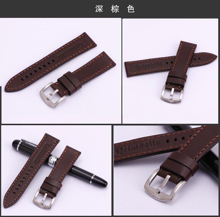 Heimdallr 22mm universal cinta de couro plana