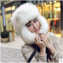 Осенне зимняя теплая шапка из супер меха для мужчин и женщин